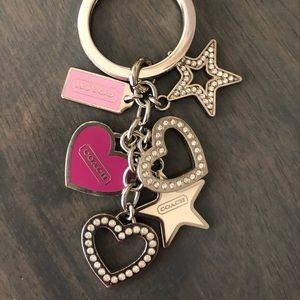 COACH Hearts and Stars Keychain